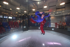 Terri indoor skydiving.