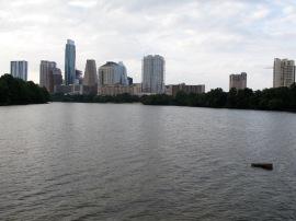 Austin TX skyline from Lady Bird Lake