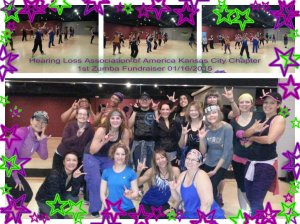 Hearing Loss Association of American Kansas Ctiy Zumba Fundraiser pizap